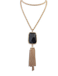 Women's Retro Fashion Long Tassel Necklace