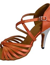 Zapatos de baile (Marrón) - Danza latina/Salsa/Zapatos Estándar Tacón Personalizado
