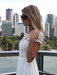 Blues Women'S Fashion Causual Backless Lace Dress