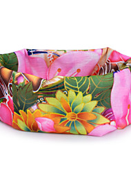 HLY-P836 Flowers Pattern Outdoor Multifunctional Seamless Headscarf - Pink