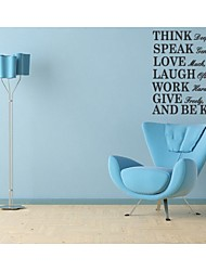 Think Deeply Speak Gently Love Much Quote Wall Decal Zooyoo8031 Decorative DIY  Removable Vinyl Wall Sticker