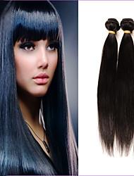 "3 Pcs Lot 12""-26""Brazilian Virgin Hair #1B Straight Hair Brazilian Wholesales Price"