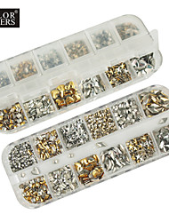 1200pcs mixs model klinknagel nail art decoraties