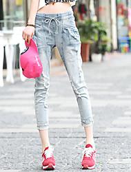 Women's Holes Waist Jeans