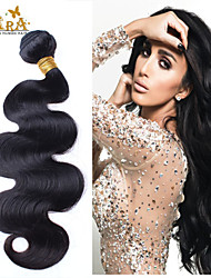 "3 Pcs/Lot10""-30""Eurasian Virgin Hair Body Wave Wefts Natural Black Human Hair Weave Wavy Bundles Tangle Free"