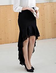 Kvinders Bodycon/Hverdag Maxi Nederdele Mikroelastisk Chiffon