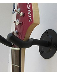 Round Plate Wall Hook Strong Hanger for Guitar Black