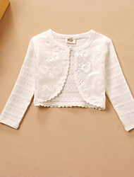 Kids Wraps Long Sleeve Lace/Polyester Sweet Lace Party/Casual Boleros White Bolero Shrug
