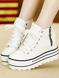 Canvas Lady  Women's Shoes Black/White Platform 3-6cm Fashion Sneakers