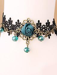 mulheres moda jóias corpo praia verão encanto estilo gótico azul do laço ocasional vintage aumentou tornozeleiras diamante