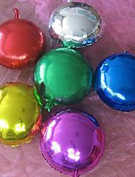 (10 pc) e 10 pollici foglio di alluminio palloncini tondo (colore casuale)