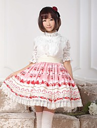 Pink  Sweet  Lolita  Strawberry Cream Cake Skirt Lovely Cosplay