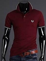 Maimi Men's Short Sleeve T-Shirt , Cotton Blend Casual/Work/Formal/Sport Pure