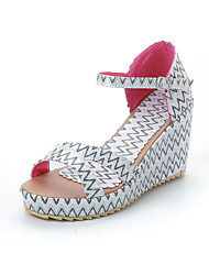 Women's Shoes Wedge Heel Wedges/Peep Toe Sandals Outdoor/Office & Career/Dress Green/Pink/White