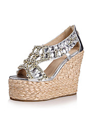 Women's Shoes Wedge Platforms Sandals and Sandals  with Rhinestone
