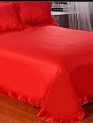 Yuxin® Bright Red Color Tencel Duvet Cover Sets 4 Piece Suit Comfort Simple Modern with Printing Queen