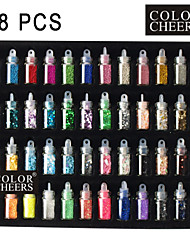 48 Farben Glass Bottled Nail Art Deko Zufällige Models