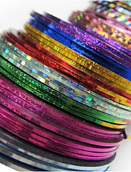 24Pcs Mixed Colors Rolls Striping Tape Line Nail Art Decoration Sticker