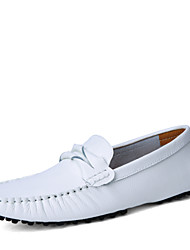 Men's Shoes Leather Wedding / Office & Career / Party & Evening Boat Shoes Wedding / Office & Career / Party & Evening Flat HeelStitching