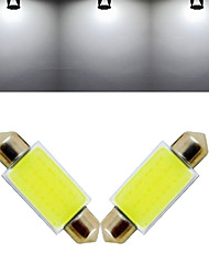 3W Lampe de Décoration 12 COB 1000 lm Blanc Froid DC 12 V 2 pièces