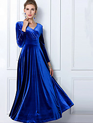 Women's Dresses , Acrylic/Organic Cotton Vintage/Party Long Sleeve K.M.S