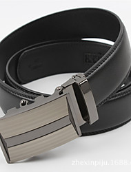 Ken Men's Automatic Buckle Leather Belt