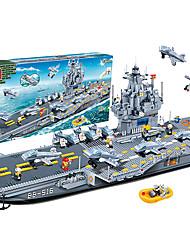 banbao 8411 blocs de grandes séries de marine militaire porte-avions bricolage 3d méga blocs jouets pour les enfants âgés de 4-15