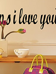 P.S I Love You Wall Decal Zooyoo8180 Decorative DIY Adesivo De Parede Removable Vinyl Wall Sticker