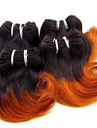 Menschenhaar spinnt Brasilianisches Haar Wellen 1 Stück Haar webt