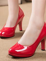 Stiletto - 3-6cm - Damenschuhe - Pumps/Heels Schwarz/Rot/Weiß/Mandelfarben )