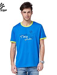 Homme Hauts/Tops / T-shirt Camping & Randonnée / Pêche / Fitness / Sport de détente Respirable / Séchage rapide EtéJaune / Vert / Gris /