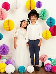 """décoration de mariage 10 """"papier tissu en nid d'abeille boule de fleurs (plus de couleurs)"""