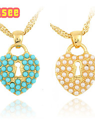 Fashion Classical 18K Golden Plated Heart Shape with Pearl Pendant Jewelry