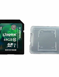 Kingston Digital 64GB Class 10 SD Memory Card  And The Memory Card Box