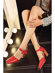 Women's Shoes  Chunky Heel Square Toe Ankle Strap Sandals More Colors available