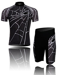 Spider NW Gray Short Sleeved Suit Breathable Quick Dry Short Sleeved Riding Bicycle Service