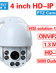 ONVIF2.0 Security CCTV High Speed IR HD IP PTZ Camera 960P 1.3MP IR-CUT 10X ZOOM