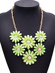 Fashion Jewelry Women's Green Gem Shourouk Necklace