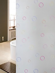 Bathroom Window Film & Stickers, Colorful Bubble Glass Door Sticker (100*90cm)