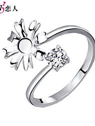 925 amateurs de fleurs anneau de tuteur d'argent sterling Bague femme en argent