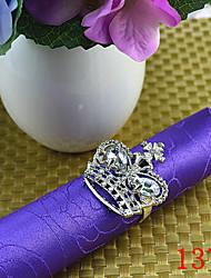 6Pcs Diamond Crown Napkin Rings