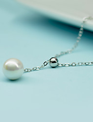 Cute/Party/Work/Casual Sterling Silver/Imitation Pearl Pendant Necklace