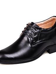 Men's Shoes JGL BRAND Leather Elevator Oxfords Shoes