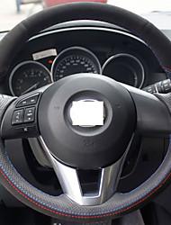 Xuji ™ copertina nera vera pelle scamosciata volante per 2012 2013 Mazda CX-5 CX5 2014 2015 mazda 6 Atenza mazda 3