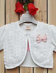 Kinder wickelt kurze Hülsenspitze / Polyester-süße Rose Partei / beiläufige Boleros weiß / pink bolero Achselzucken