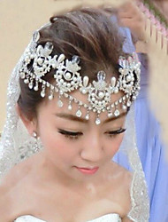 Wedding Veil One-tier Headpieces with Veil Lace Applique Edge