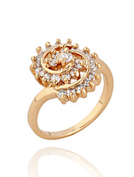 KuNiu Women's High Quality Classic 18K Gold Plated Valentine's Day Gifts Rings J0098