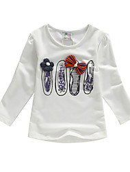 Girl's Spring/Fall Stretchy Thin Long Sleeve Tees (Cotton/Lycra)2T 3T 4T 5T 6T 7T 8T