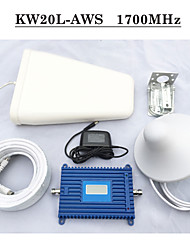 70dbi Gain Signal Repeater AWS 1700Mhz 2100Mhz Cell Phone Signal Booster LCD Screen Mobile Signal Amplifier Full Kits
