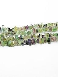 """beadia contas de pedra de fluorita 5-8mm forma irregular pérolas soltas DIY ajuste colar de jóias pulseira 34 """"/ str"""